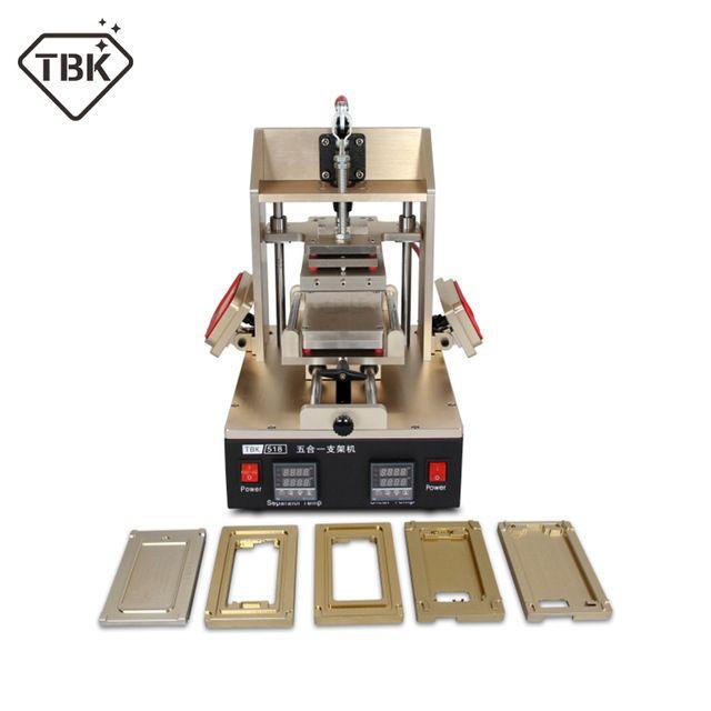 TBK-518 5 in 1 Vakuum LCD Screen Separator + Kleber Entferner + Rahmen Entferner für samsung + Rahmen Laminator für iphone