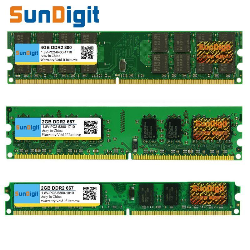 SunDigt DDR2 800 PC2 6400 5300 4200 1 GB 2 GB 4 GB 8 GB Desktop PC RAM Speicher Kompatibel DDR 2 667 MHz 533 MHz Mehrere Modelle DIMM