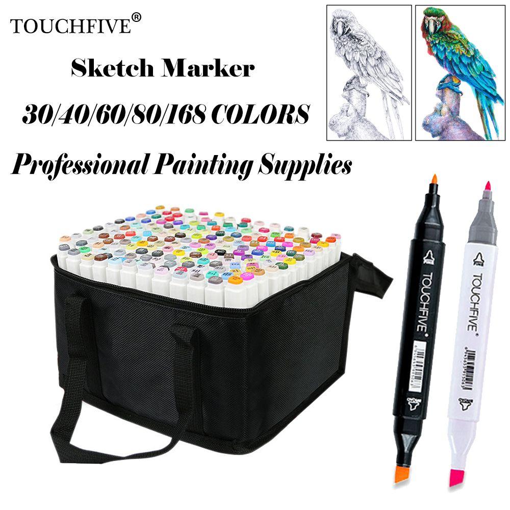 Touchfive 168 couleurs peinture Art marque stylo alcool marqueur stylo dessin animé Graffiti Art croquis marqueurs pour Designers Art fournitures