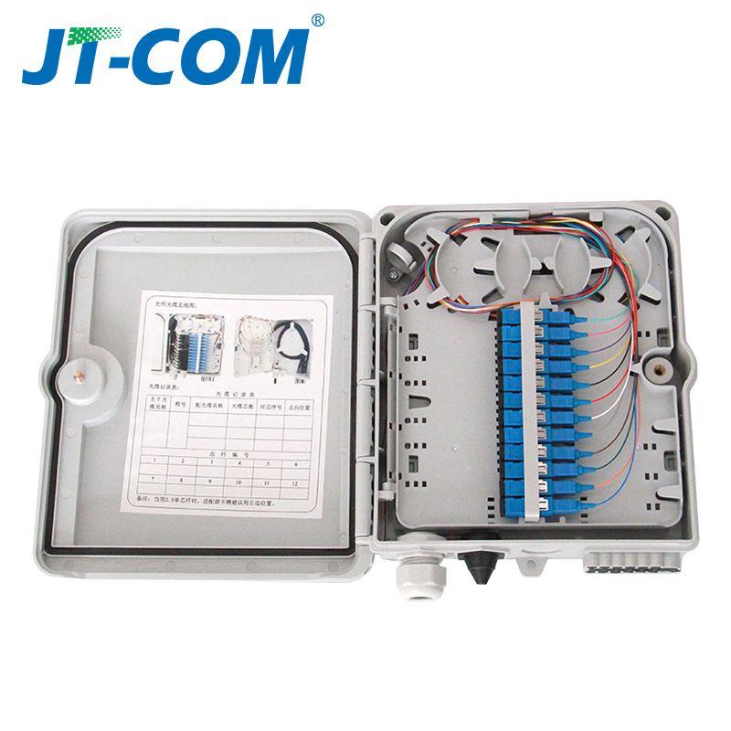 12 core oder 24 core Kündigung FTTH fiber optic verteilung box voll mit einzelnen modus zopf SC adapter
