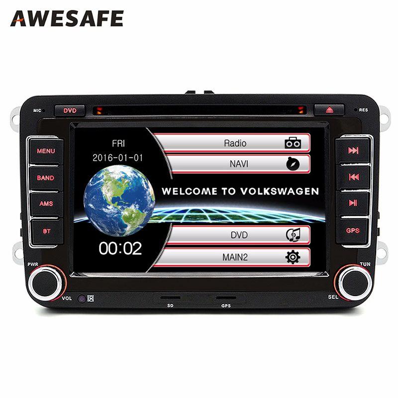 2 Din 7 Дюймов Автомобиля DVD Плеер для Volkswagen VW golf 6 passat B7 touran sharan Lavida поло tiguan с бесплатным подарок Bluetooth FM GPS-навигатор автомагнитола