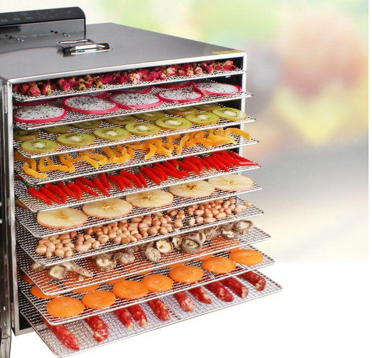 10 Schicht Großen Kommerziellen Kapazität Obst Trockner Edelstahl Gemüse Trocknen Maschine Pflanzliche Nahrungsmittelentwässerungsmittel zu Sicher Lufttrockner