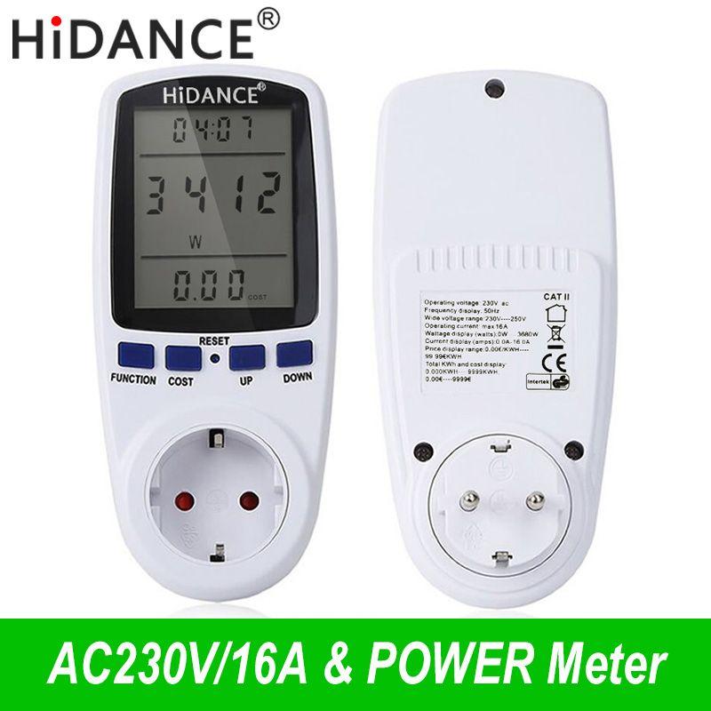 HiDANCE AC compteurs d'énergie 220 v wattmètre numérique ue compteur d'énergie watt moniteur consommation d'électricité mesure prise analyseur