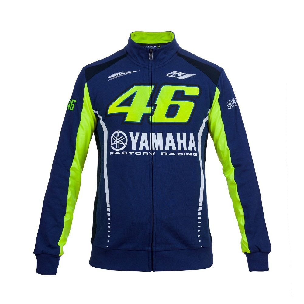 2017 Valentino Rossi VR46 for Yamaha Racing Blue Moto GP Motorcycle Racing FELPA Zip-up Sweater