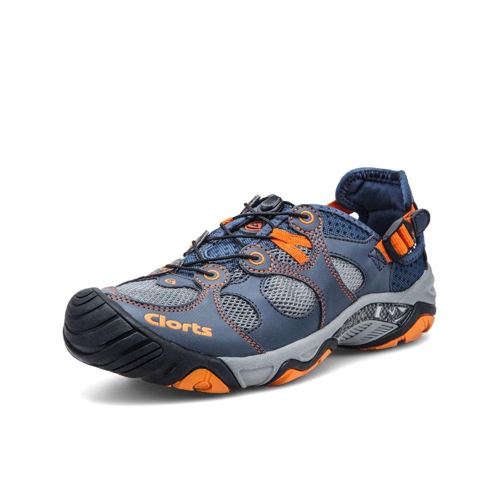 Clorts Men Water Shoes Upstream Shoes Quick Dry Aqua Outdoor Shoes Durable Summer Shoes 3H021A/B