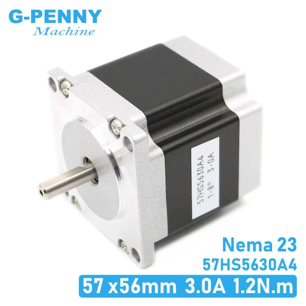 Moteur pas à pas cnc 57x56 NEMA 23 moteur pas à pas 3A 1.26N.m moteur pas à pas 180Oz-in pour CNC machine de gravure fraisage 3D imprimante