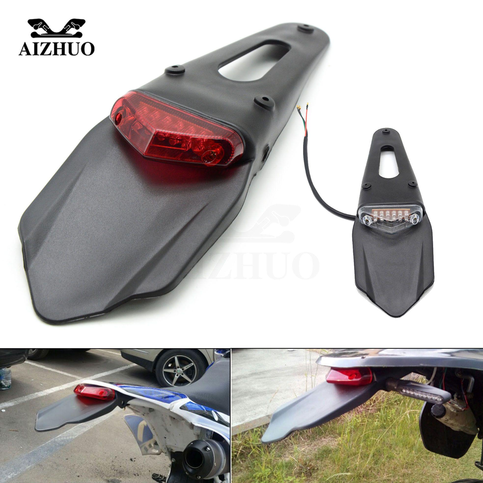 Motorcycle Rear Fender Stop Enduro Taillight Turn Signal for YAMAHA YZ450F YZ250X WR450F WR250R HONDA CR125R CR250R XR650AR