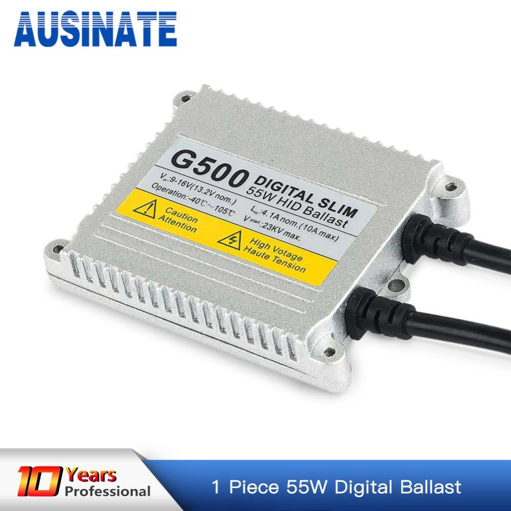 Ballast électronique de Conversion de remplacement de Ballast de xénon caché mince de 1 pc 55 W, ballast caché 12 v 55 w