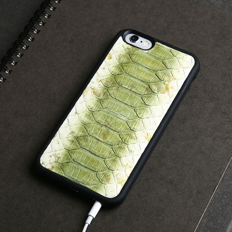 Luxury Genuine Natural Python Snake Skin Leather Case For Apple iPhone 5 6 6s SE back Cover Mobile Phone Cases For iphone 7 plus