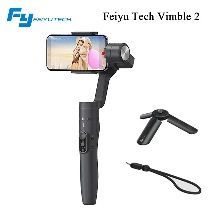 Feiyu tech vimble2 Hand-hold stabilizer with telescopic extension for iphone 8 x samsung phone video stabilizer