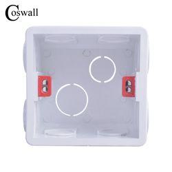 Coswall Réglable Boîte De Montage Interne Cassette 82mm * 82mm * 50mm Pour 86 Type Interrupteur et Prise blanc/Rouge Couleur Câblage Arrière Boîte