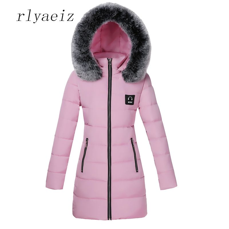RLYAEIZ 2017 Hot New Women Winter Jacket Warm Thicken Fur Hooded Parka Plus Size Cotton Womens Coats And Jackets Female Overcoat