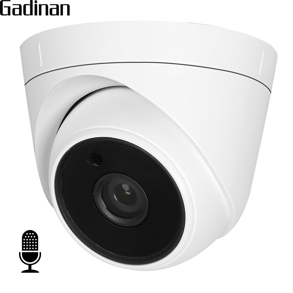 GADINAN Internal Audio IP Camera 720P 960P Hi3518EV200 Indoor Dome Surveillance Video Camera XMEye CMS DC 12V 48V PoE <font><b>Optional</b></font>