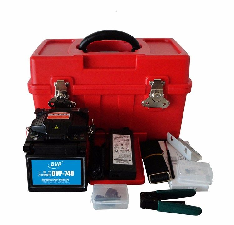 2017 DVP-740 Mini FTTx Splicer Tool Box Professional Welding Machine High Quality Fiber Optic Fusion Splicer