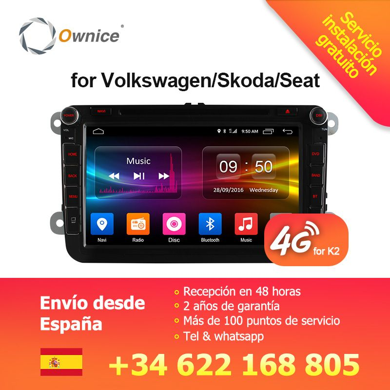 4G SIM LTE Network Ownice C500 G10 <font><b>Octa</b></font> 8 Core Android 8.1 2G RAM 2 Din Car DVD GPS Navi Radio Player For VW Skoda Octavia 2