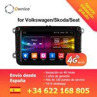 4G SIM LTE red Ownice C500 G10 Octa 8 Core Android 8,1 2G RAM 2 Din DVD del coche GPS Navi reproductor de Radio para VW Skoda Octavia 2