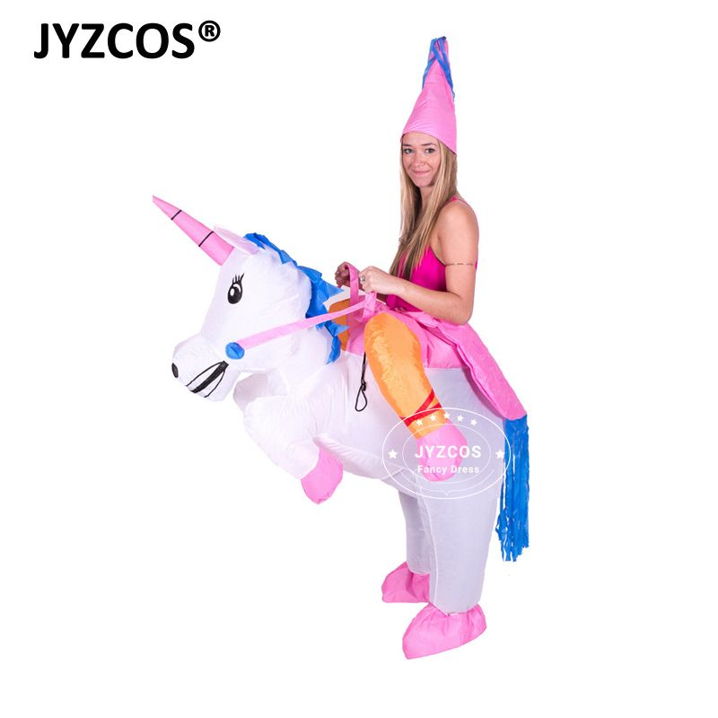 <font><b>Inflatable</b></font> Unicorn Costumes Carnaval Princess Outfit Purim Party Fancy Dress Halloween Costumes for Kids Women Men Adult