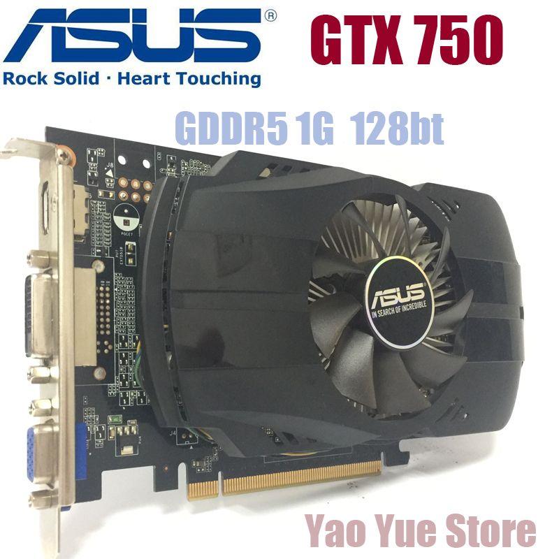 Asus GTX-750-FML-1GB GTX750 GTX 750 1G D5 DDR5 128 Bits PC De Bureau Cartes Graphiques PCI Express 3.0 ordinateur Graphique cartes