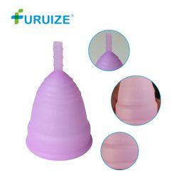 Venta caliente Menstrual copa para las mujeres higiene femenina médica 100% de silicona copa Menstrual señora reutilizable copa menstrual que almohadillas