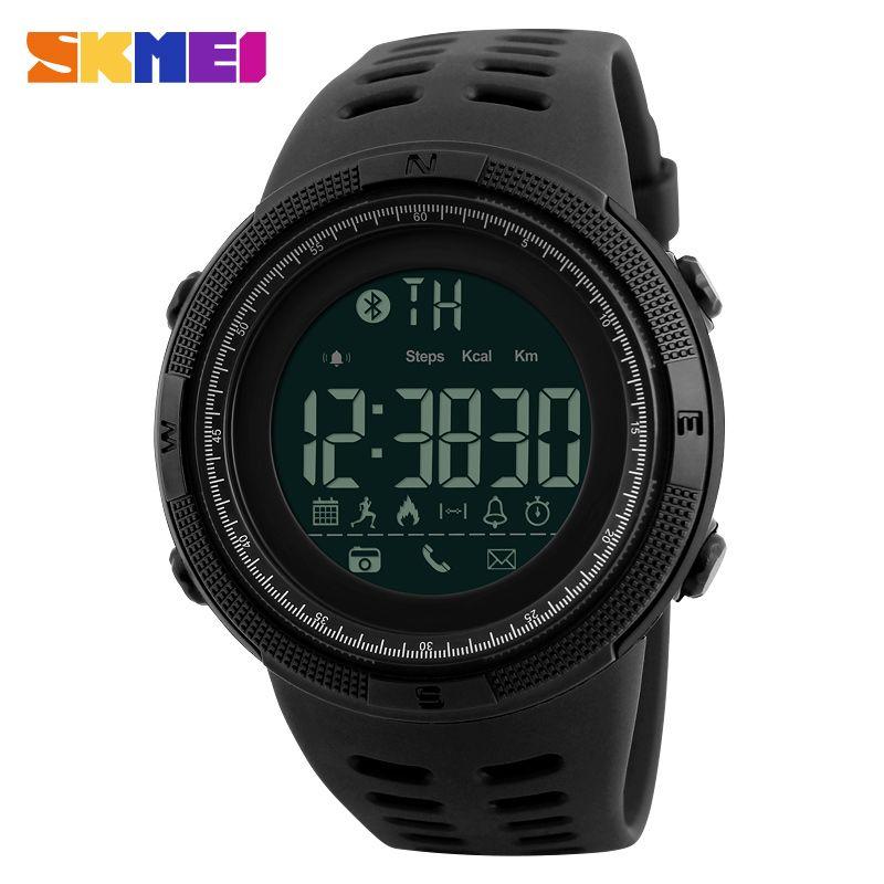 SKMEI Men Smart Watch Chrono Calories Pedometer Multi-<font><b>Functions</b></font> Sports Watches Reminder Digital Wristwatches Relogios 1250