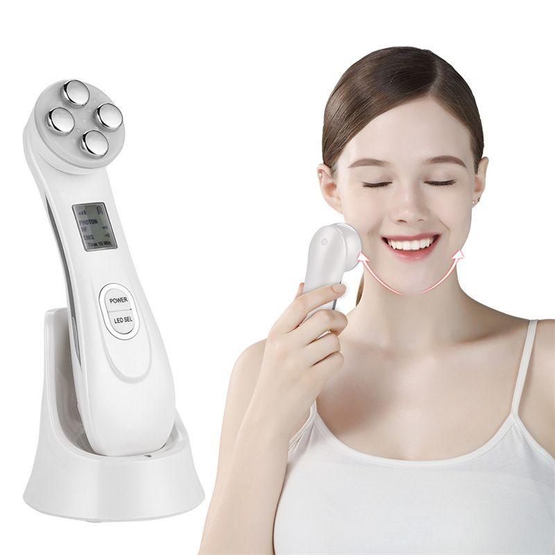 RF EMS électroporation LED photonique luminothérapie dispositif de beauté Anti-âge visage levage resserrement des yeux outils de soins de la peau du visage 38