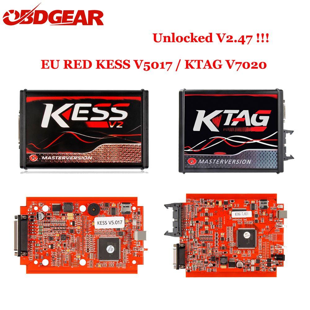 2018 Ktag K TAG V7.020 KESS V2 V5.017 SW V2.23 v2.47 UNLOCKED Master ECU Chip Tuning Tool K-TAG 7.020 Online Better KTAG V7.003