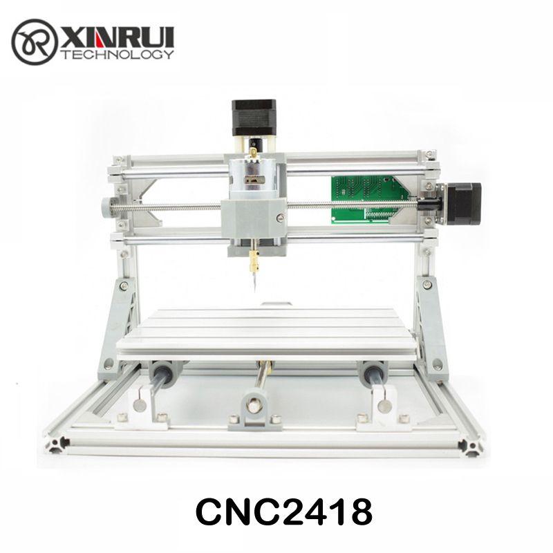 CNC 2418 GRBL contrôle Diy CNC machine, zone de travail 24x18x4.5 cm, 3 Axes Pcb Pvc fraiseuse, Bois Routeur, Sculpture Graveur, v2.5
