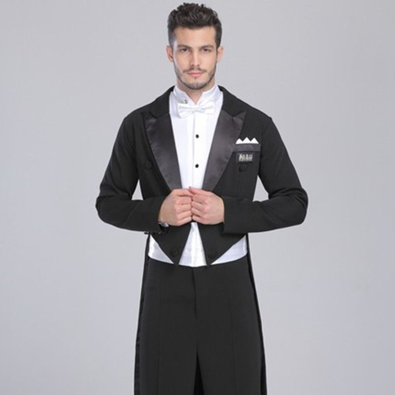 2017 neuen männer smoking badeanzug kleid rauchen masculino standard dance männer anzug schwarz zwei stück mens hochzeit anzüge jacke + hosen