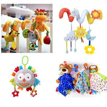 Детские игрушки 0-12 месяцев, крутящиеся колокольчики на кровать, погремушки для раннего развития, детская кроватка, заводная коляска, игрушк...