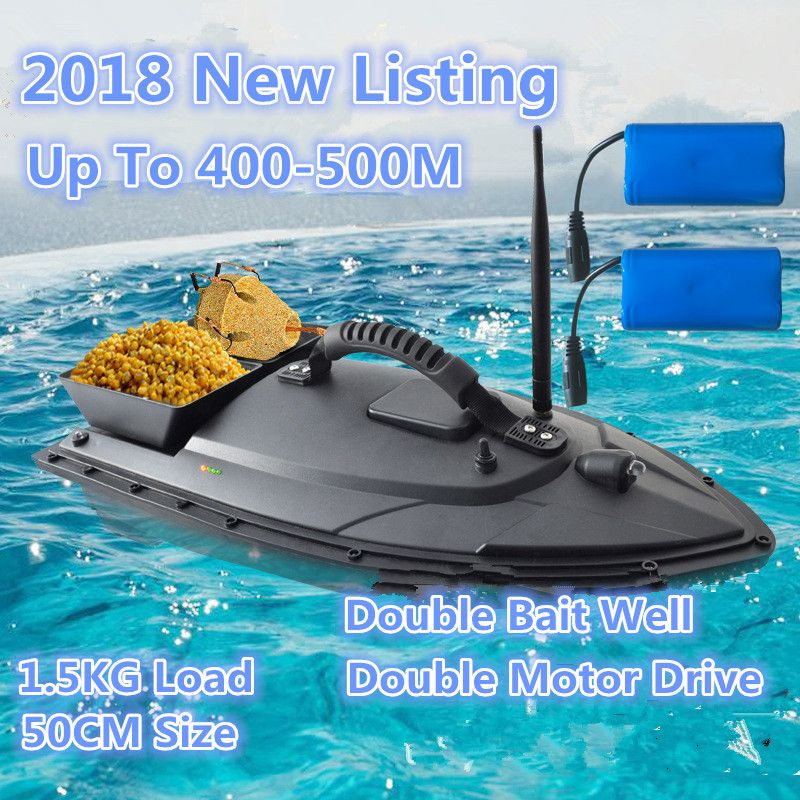 2018 NEW Remote Control Fish Boat Model 2.4G 5200MAH 500M Fast Electric RC Carp Fishing delivery Bait Boat Add Extra Battery