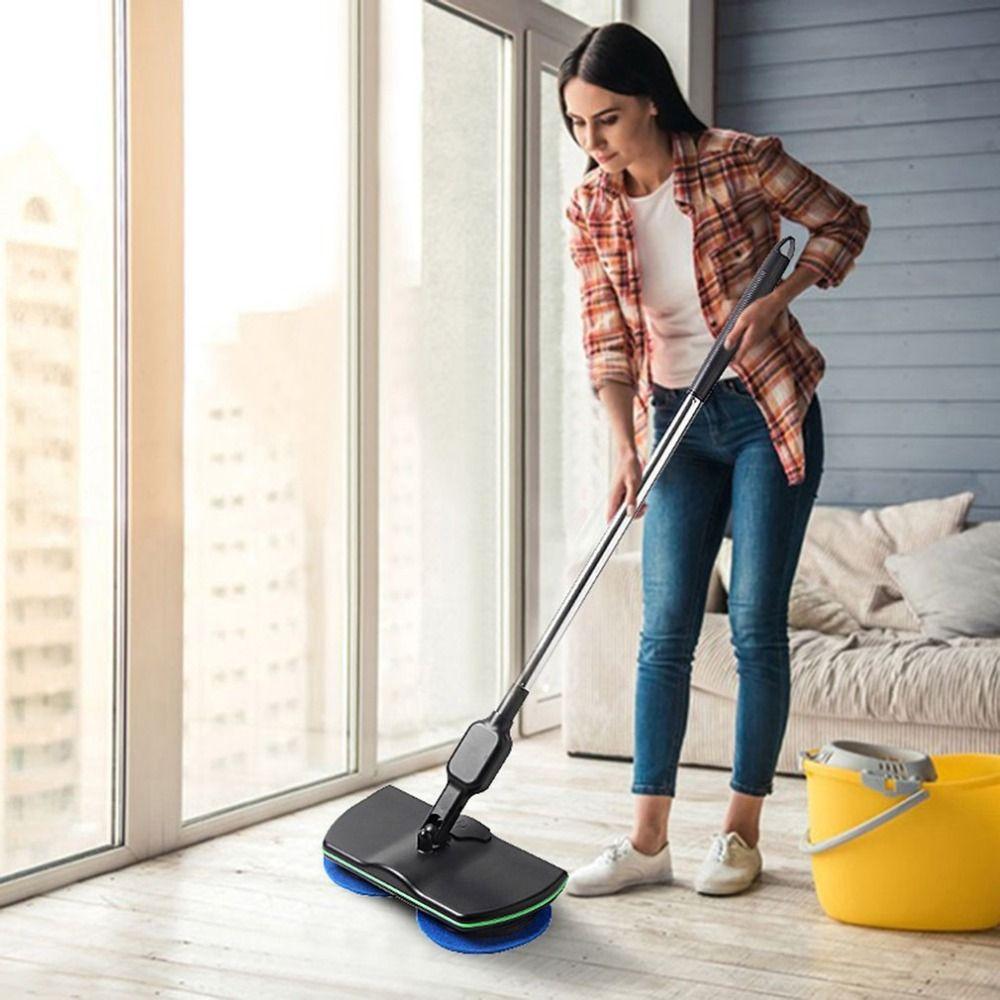 Rechargeable All-round Rotation Sans Fil nettoie les sols Polisseur Laveur Électrique Rotatif Vadrouille serpillière en microfibres pour La Maison