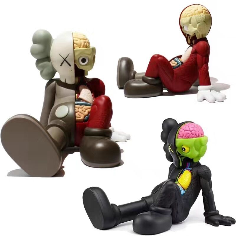 Medicom Toy Originalfake KAWS Dissected Companion PVC Action Figure Collectible Model Toy with box S157