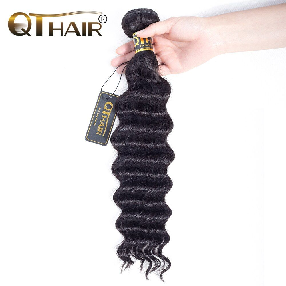 Loose Deep Brazilian Hair Weave Bundles Non-Remy hair More Wave 8-28 inch Fast Shipping Can Buy 3 Bundles or More QThair