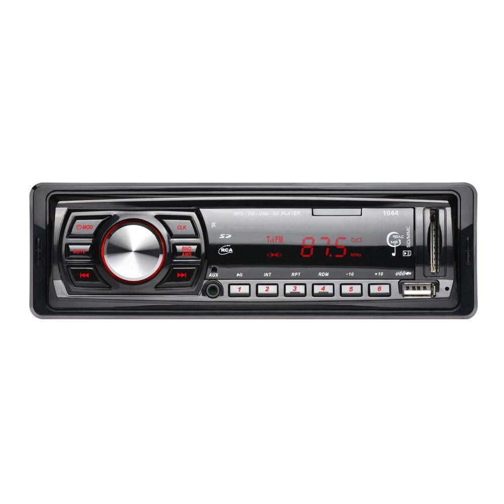 12V Car Radio <font><b>Vehicle</b></font> Stereo Audio MP3/WMA Player Car Audio 1 Din USB/MMC/FM/Aux/Remote Control Autoradio Car Accessaries