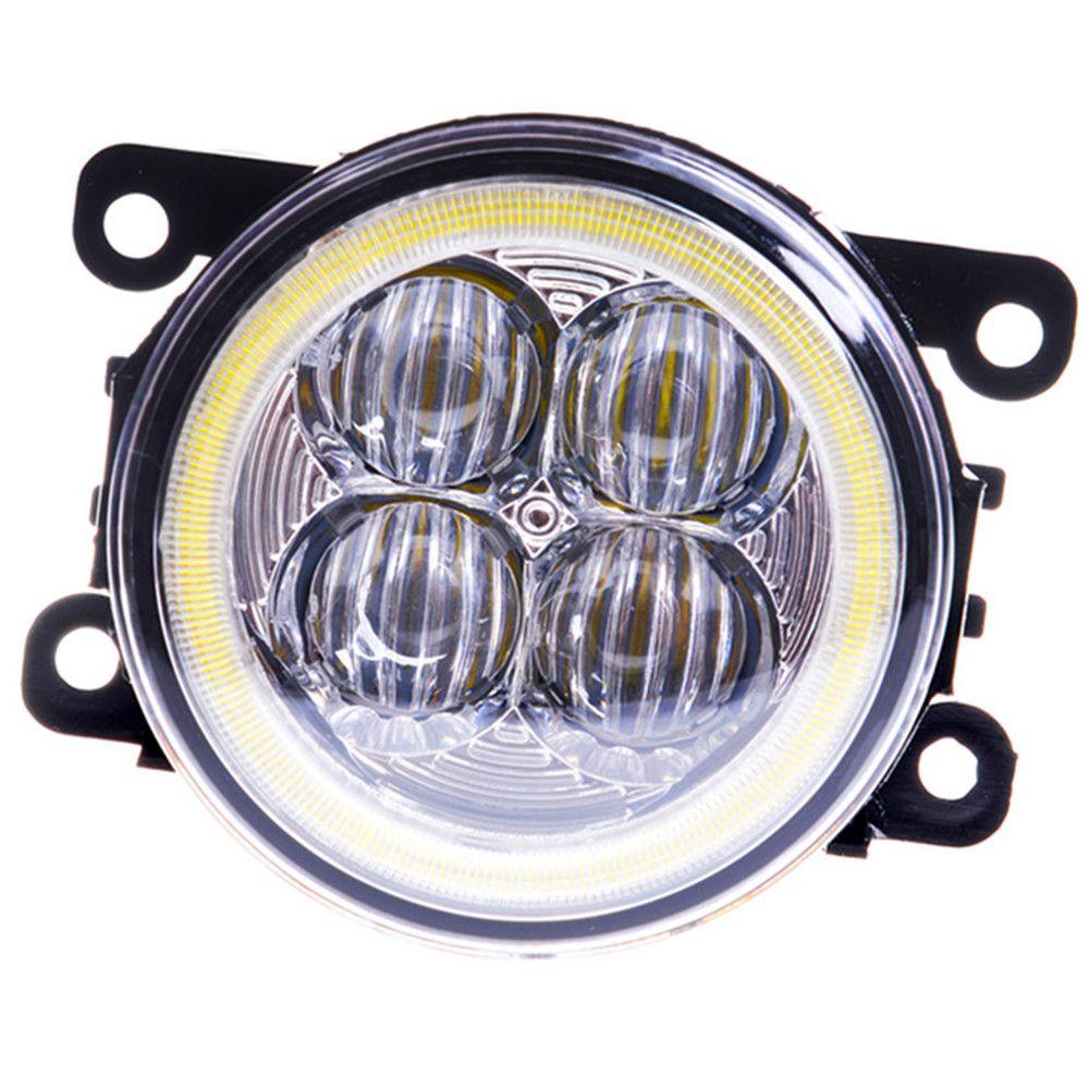 For SUZUKI SX4 GY Hatchback 2006-2014 Angel eyes DRL LED fog lamp 9CM daytime running light Spotlight DRL OCB lens