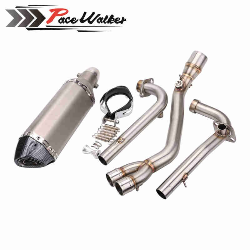 Motorcycle middle exhaust pipe + 51mm exhaust Modified Scooter Exhaust Muffle for yamaha TMAX 530 TMAX 500 2008-2016
