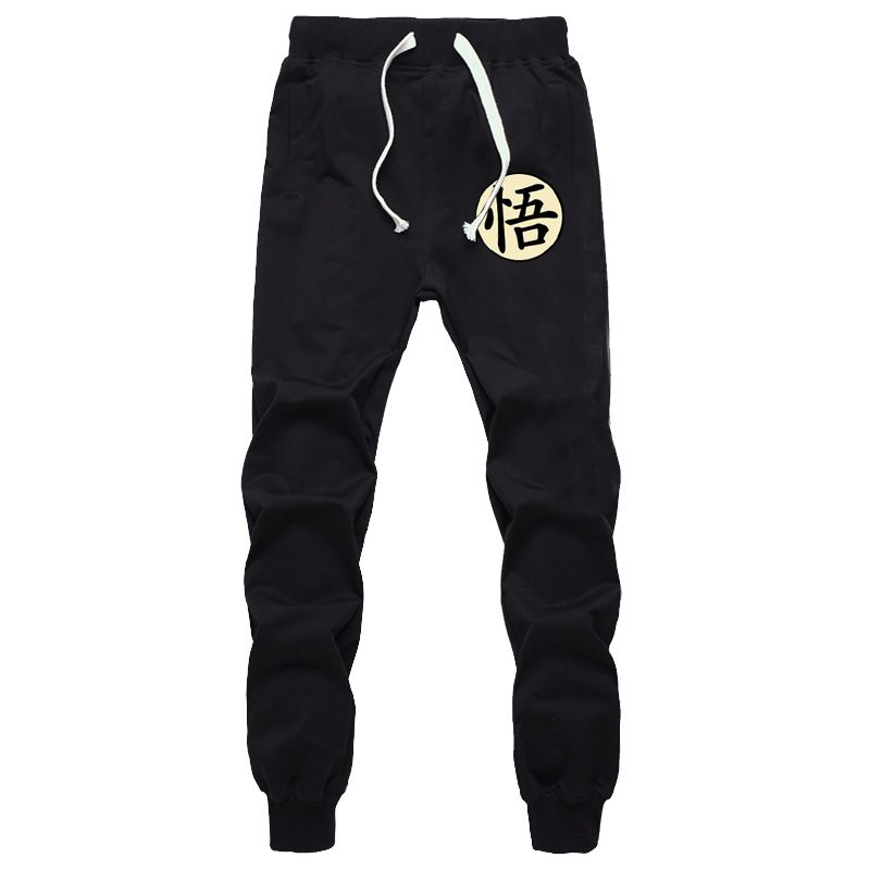 Casual Funny Print Dragon Ball Goku Mens Pants Cotton Autumn Winter Gray Men Joggers Sweatpants Plus Size Black Trouser pantalon