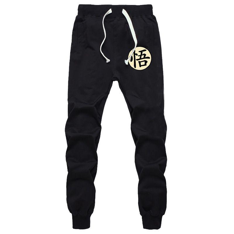 Dragon Ball Goku Impresión Divertida Para Hombre Pantalones de Algodón ocasional Otoño Invierno Gris Hombres Joggers pantalón Más Tamaño Negro Pantalones pantalon