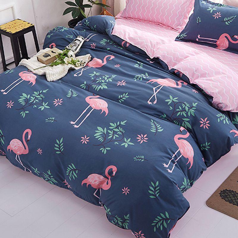 1 stücke Bettbezug 200*200 Bettwäsche Quilt Decke Tröster Abdeckung Druck Einzigen Doppel Königin König Angepasst 140*200 cm flamingo