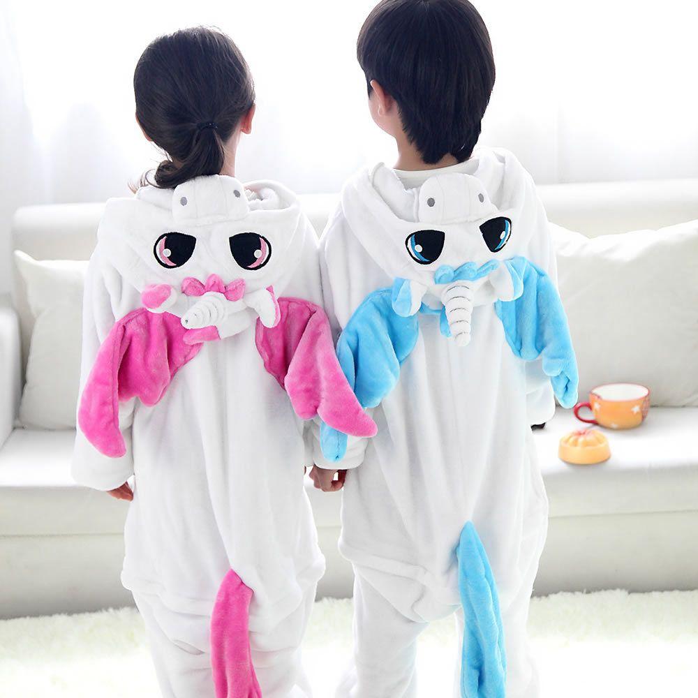Enfants Animaux Onesie Licorne Pyjamas Pour Enfants Halloween Cosplay Costume Pour Filles Garçons Pijama Infantil Menino Kigurumi