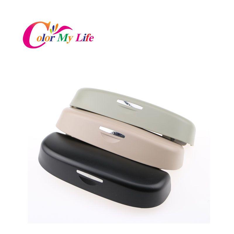 Color My Life Car Sunglasses Box Sun Visor Case Holder Clip Storage Bag Case for Audi A1 A3 A4 A5 A6 A7 A8 Q3 Q5 Accessories