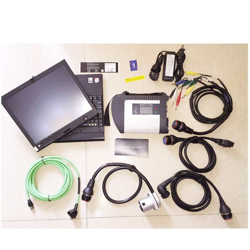 V09/2018 C4 software add FDOK Htt-win more function MB SD C4 Diagnosis system in X200T laptop Ready to Use for MB car truck