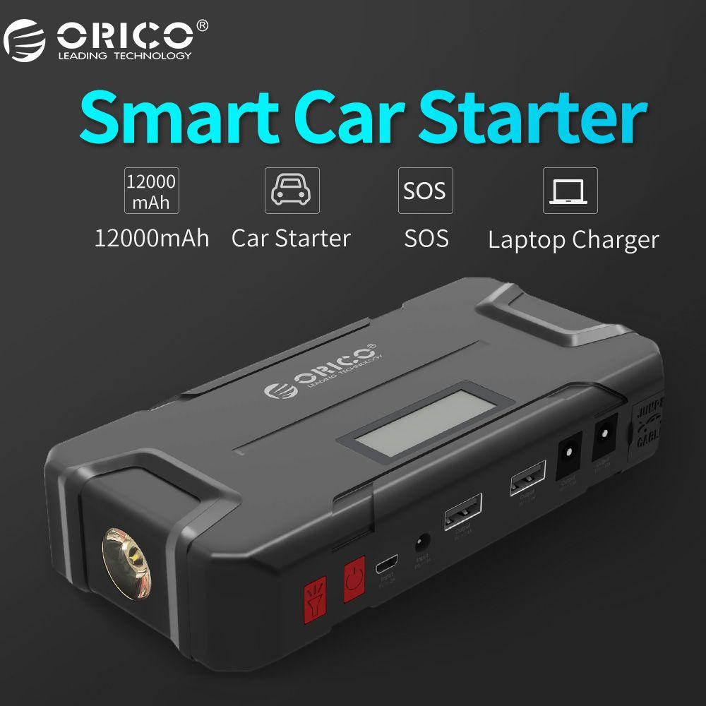 ORICO CS2 12000mAh Mini Emergency Power Bank Portable Mobile Battery Emergency Booster Buster Power Bank For Phone Laptop Car