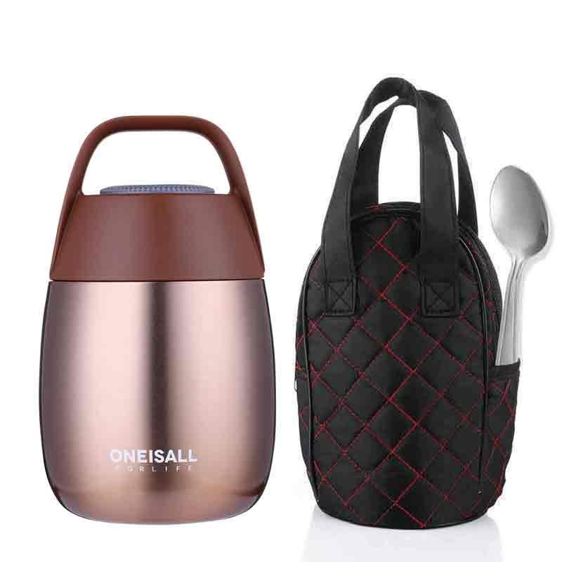 OneIsAll ragoût alimentaire conteneur Thermos bouteille thermique fiole pour nourriture soupe Pot boîte à Lunch avec cuillère pour nourriture et soupe conteneur