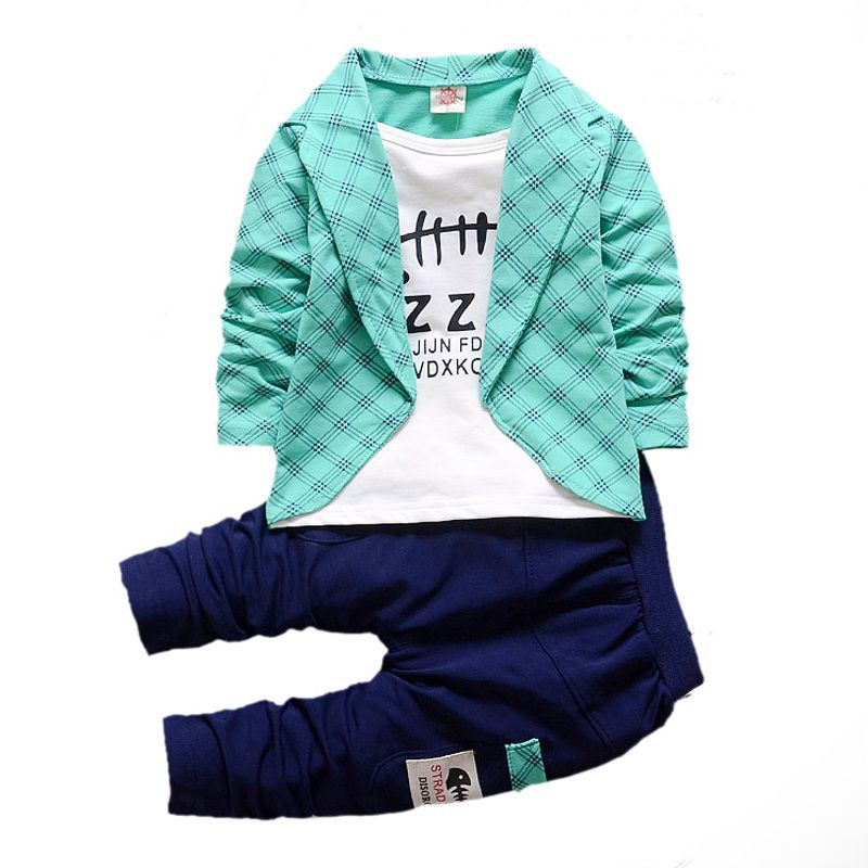Boys Formal Clothing Kids Attire For Boy Clothes Plaid Suit In September Toddler Suit Set Children's Clothing Boy Tracksuits