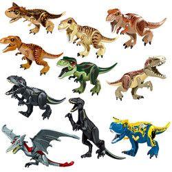Jurassic World 2 Park Dinosaurus Tyrannosaurus Rex Indoraptor Set Model Blok Bangunan Mainan untuk Anak Kompatibel dengan LEGO