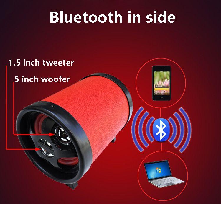 5 + 1.5 Haute Puissance Haut-Parleur Subwoofer bluetooth sans fil SD haut-parleurs usb DC 12 v/AC 110 ~ 240 v Dans pour la voiture téléphone pc MP3