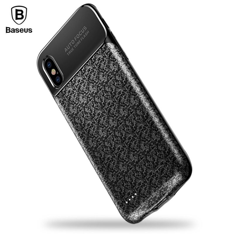 Baseus 3500mAh Battery Charger Case For iPhone X Ultra Slim Portable Power Bank External Backup Charging <font><b>Cover</b></font> For iPhone X