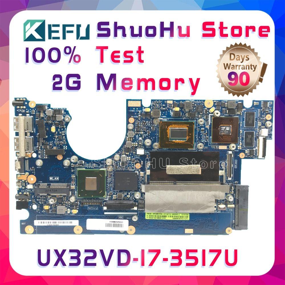 SHELI UX32VD For ASUS UX32V UX32A UX32VD CPU I7-3517U 2G Memory ZenBook laptop motherboard tested 100% work original mainboard
