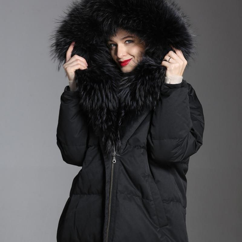 Shuchan Women's Outerwear New Items 2018 Down Jackets With Hood Winter Fashionable Women's A Woman's Jacket With A Fur Collar